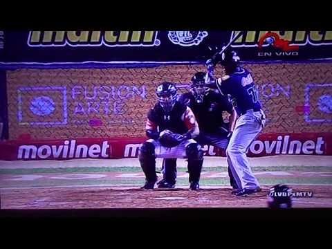 Jesus Aguilar Voltea el juego Leones del Caracas vs Aguilas del Zulia
