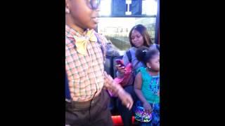 Nerd party bus dance off