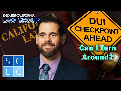 Can I turn around at a DUI checkpoint?