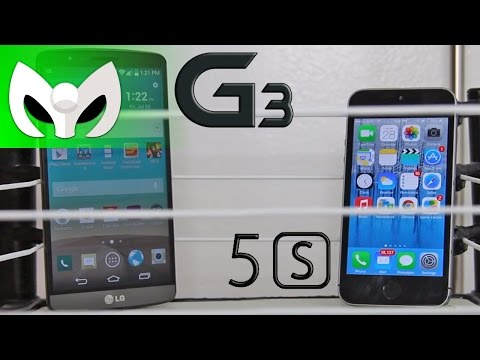 LG G 3 vs iPhone 5s (Speed Test - Velocidad)