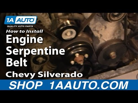 How To Install Replace Engine Serpentine Belt Chevy Silverado GMC Sierra 1500 4.