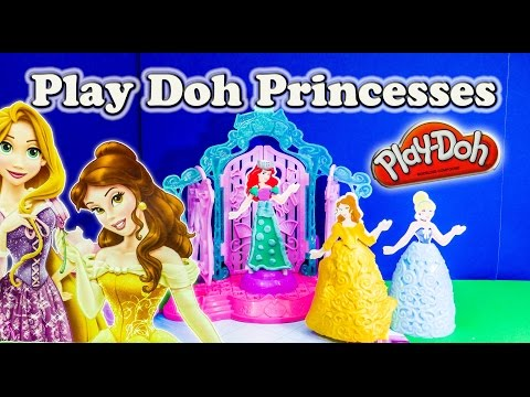 DISNEY PRINCESS PLAY DOH Design a Dress Ballroom Play Doh Toy Review