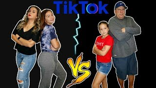 WHICH PARENT CAN GET THE MOST TIKTOK FOLLOWERS IN ONE DAY / ALI & MOM VS EMILY & DAD