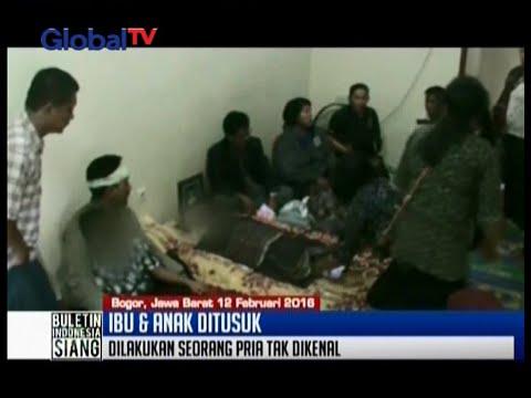 Sadis! Ibu dan anak di Citeureup, Bogor, ditusuk pria misterius - BIS 12/02