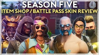 Every Season 5 Skin Reviewed (Battle Pass and Item Shop) (Fortnite Battle Royale)