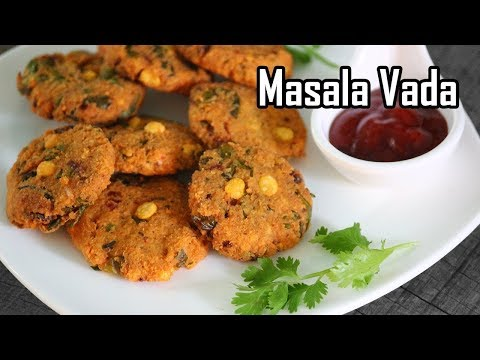 மொறுமொறு மசால் வடை | South Indian Street Food Masala Vada Recipe | Paruppu vadai recipe