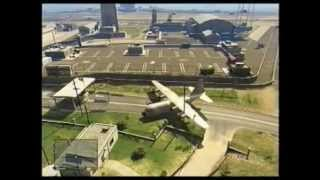 GTA 5 LANDING THE C-130 AT THE ARMY BASE