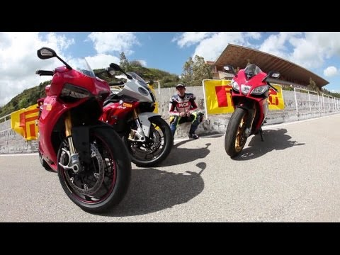 Ducati 1199 Panigale vs BMW S1000RR and Aprilia RSV4 APRC