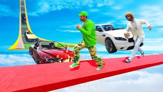 DODGE THE TOP SPEED CARS CHALLENGE! (GTA 5 Funny Moments)