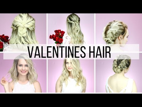 Valentines Hairstyles for Short & Long Hair Tutorial - YouTube