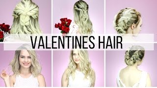 Valentines Hairstyles for Short & Long Hair Tutorial