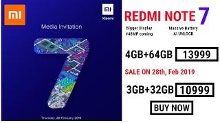 Redmi Note 7 28th Feb 2019 को LAUNCH होगा !