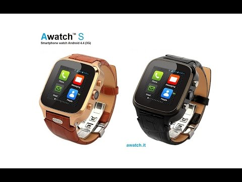 """Awatch S"" Android 4.4 Smart watch phone (3G) with camera"