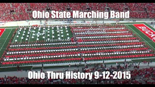 "Ohio State Marching Band ""Ohio Thru History""- Halftime Show vs. University of Hawai"