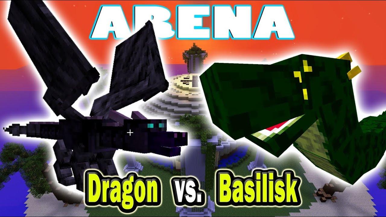 Basilisk vs Dragon Battle Dragon vs Basilisk