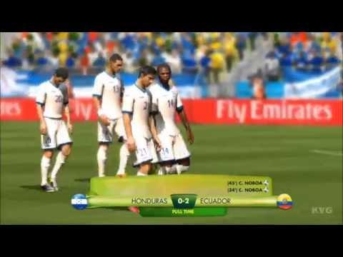 2014 FIFA World Cup Brazil - Honduras vs Ecuador Gameplay [HD]