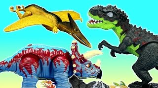 Dinosaurs T-rex  Triceratops Pterodactyl Light and Sound Toys For Kids
