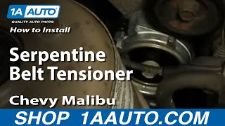 How To Install Replace Serpentine Belt Tensioner Chevy Malibu 97-03 1AAuto.com