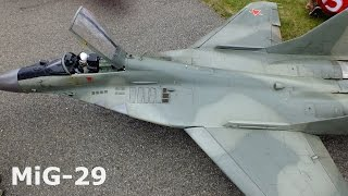 MiG-29, scale model radio communication, jet turbine RC aircraft, 2016