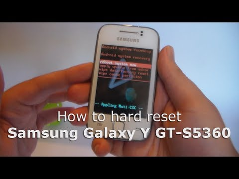 How to Hard Reset Samsung Galaxy Y (GT-S5360)