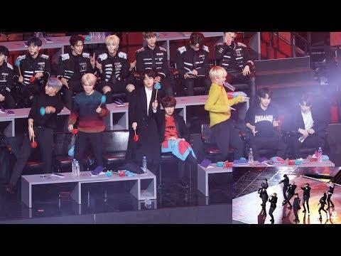"""190106 BTS Reaction To BIGBANG """"Bang Bang Bang"""" (Cover) (빅뱅 커버무대 보는 방탄소년단) 4K 직캠 By 비몽"""