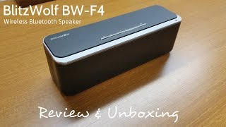 BlitzWolf BW-F4 x-BASS Portable Bluetooth Speaker Review & Unboxing! [HD]