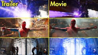 Spider-Man: Homecoming - Trailer vs Movie Comparison [4K UHD]