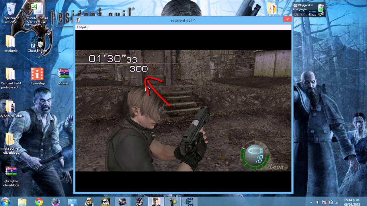 ... la HandCannon en Resident Evil 4 para pc con cheat engine - YouTube