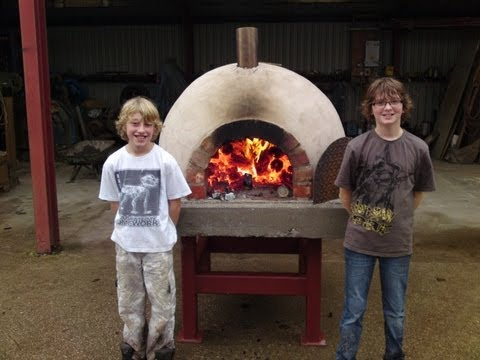 HOW TO BUILD.make.a homemade.wood fired.clay brick pizza oven