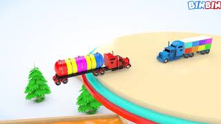 Learn Street Vehicles for Kids Colours for Children to Learn with Magic Liquids