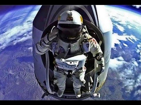 Felix Baumgartner - Highest Skydive EVER - 24.2 Miles up! (World Record) 720p