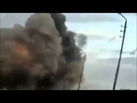 Moment car bomb explodes in military post in North Sinai, Egypt VIDEO 18+