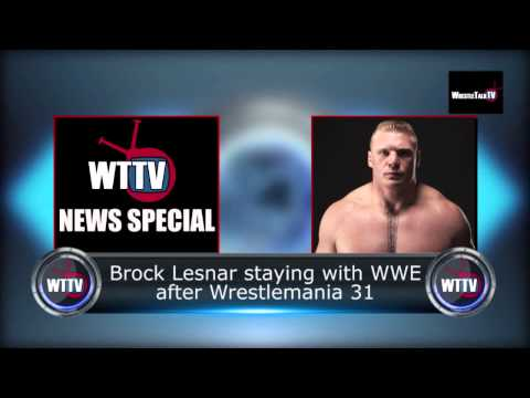 Brock Lesnar Re-signs To WWE! No UFC Return! - WTTV News Special