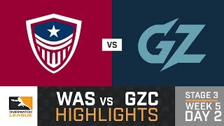 HIGHLIGHTS Washington Justice vs. Guangzhou Charge | Stage 3 | Week 5 | Day 2 | Overwatch League