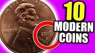10 MODERN COINS WORTH MONEY - VALUABLE ERROR COINS TO LOOK FOR!!