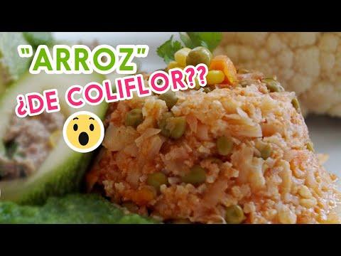 Arroz de Coliflor Las Recetas de Laura Recetas Saludables  Cauliflower Rice Recipe