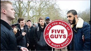 Video: Tommy Robinson is no Power Ranger. Grooming Gangs are not Muslim - Ali Dawah vs 5 Lads