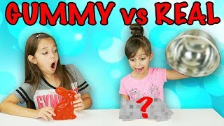 REAL vs GUMMY FOOD SWITCH UP CHALLENGE