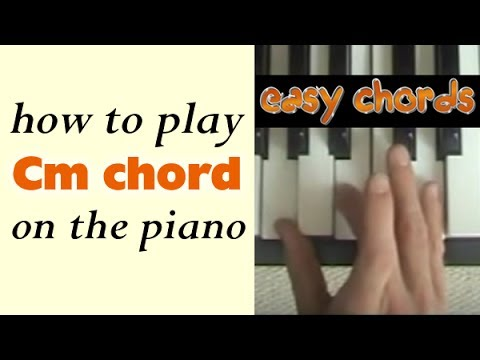 Cm Piano Chord - how to play C minor chord on the piano