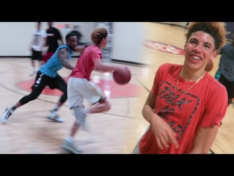 DEFENDING LAMELO BALL IN REAL LIFE BASKETBALL! 5 v 5 Chino Hill Players