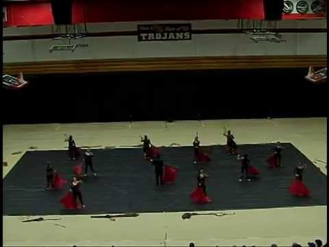 Pulaski County High School Winter Guard at 2014 TriState Circuit Championships