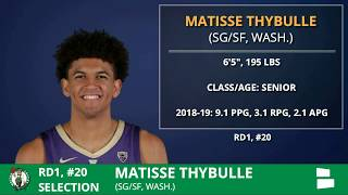Philadelphia 76ers Pick Matisse Thybulle With Pick #20 In 1st Round of 2019 NBA Draft