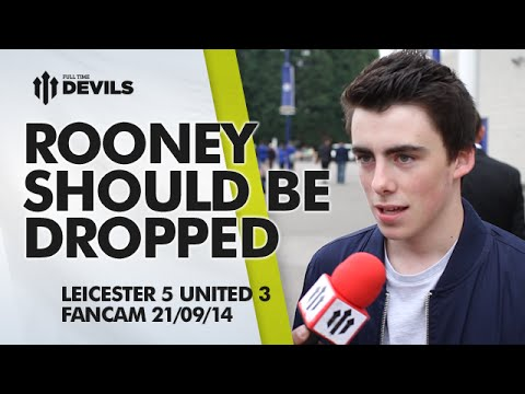 'Rooney Should Be Dropped' |  Leicester City 5 Manchester United 3 | FANCAM