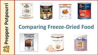 Comparing Freeze Dried Food