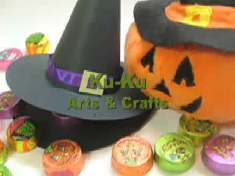 Ku-Ku WRAPPING Halloween Witch's Hat (Sombrero de Bruja).mov