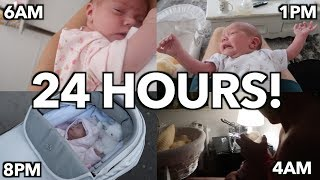24 HOURS WITH A NEWBORN!! || Casey Barker Vlogs