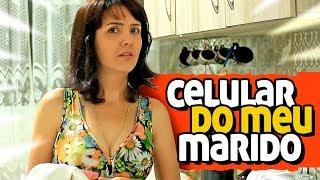 MULHER PEGA CELULAR DO MARIDO PARA VER AS MENSAGENS