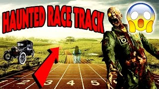 EXPLORING HAUNTED GHOST RACE TRACK WITH CREEPY NASCAR GHOSTS (WEIRD DISAPPEARING CAR)