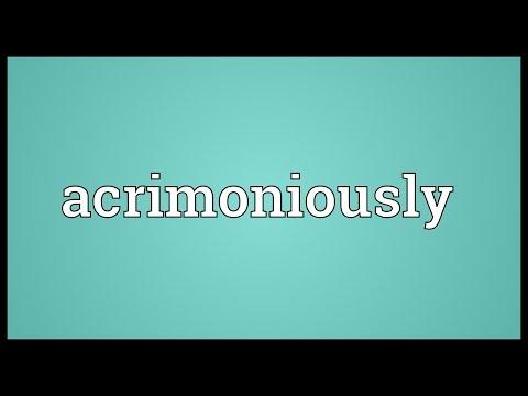 Header of acrimoniously
