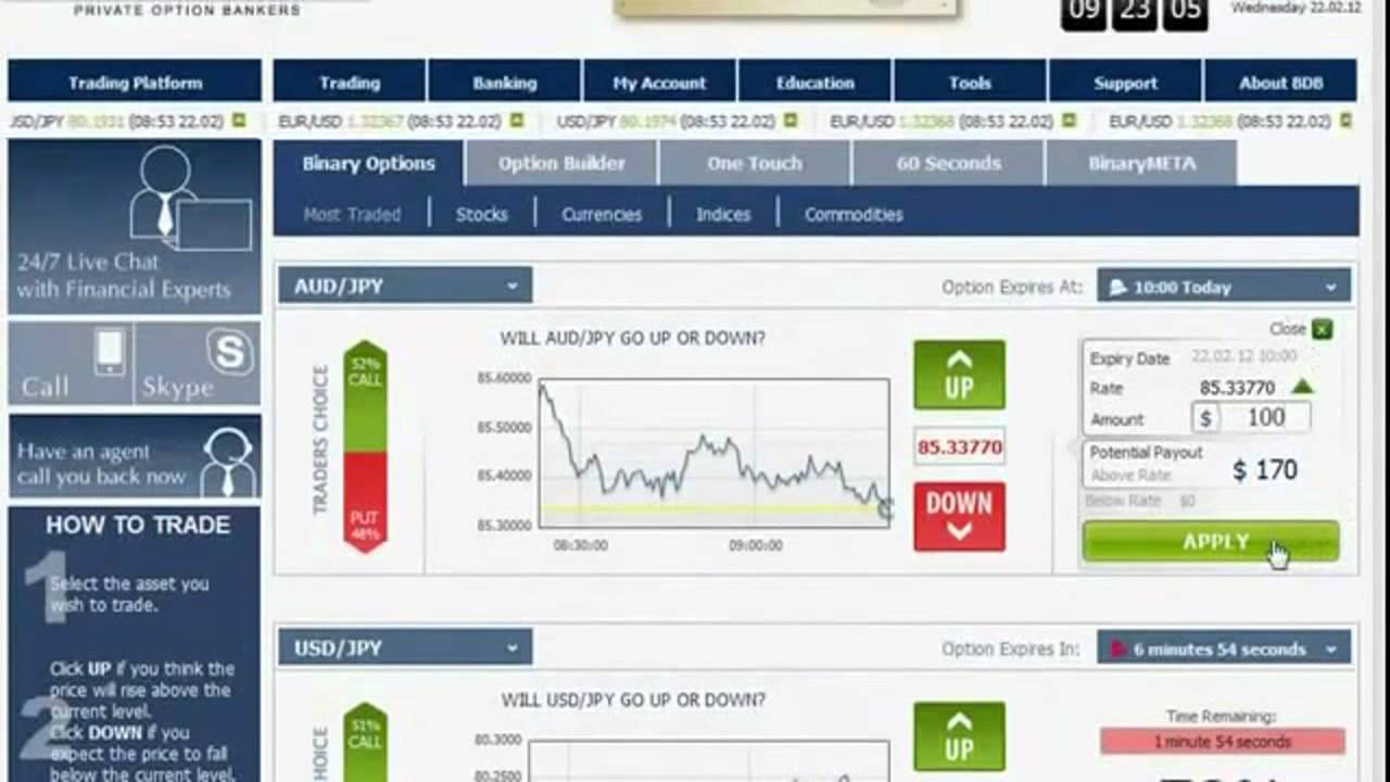 Binary options max trade